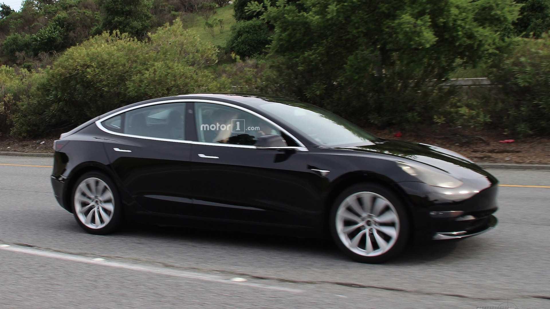 Tesla Model 3 Center Screen UI Rendered Based On Spy Shots
