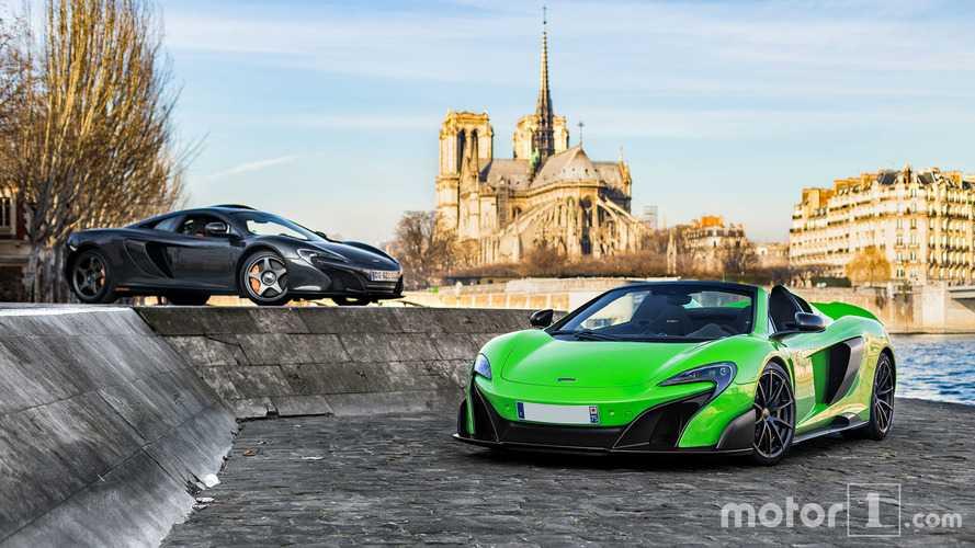 PHOTOS - Deux McLaren très spéciales posent à Paris
