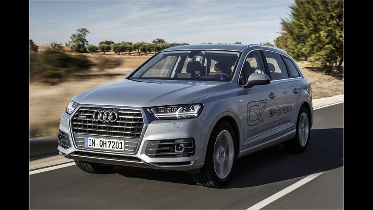 Platz 6: Audi Q7 e-tron (2.520 Kilo)