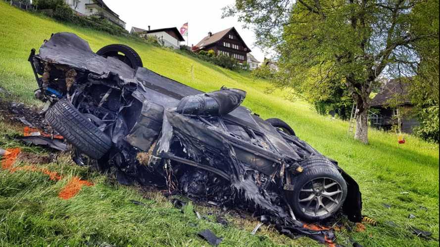 Richard Hammond accidenté au volant d'une Rimac en Suisse