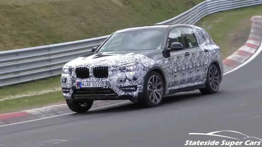 2018 BMW X3 Nürburgring'de test edilirken görüntülendi