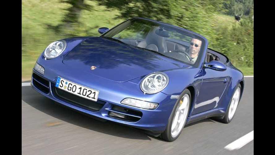 Open-Elf mit Asphalt-Kleber: Porsche 911 C4 Cabrio im Test