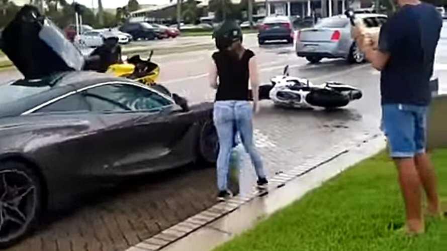McLaren 720S Involved In Road Rage Incident With Biker