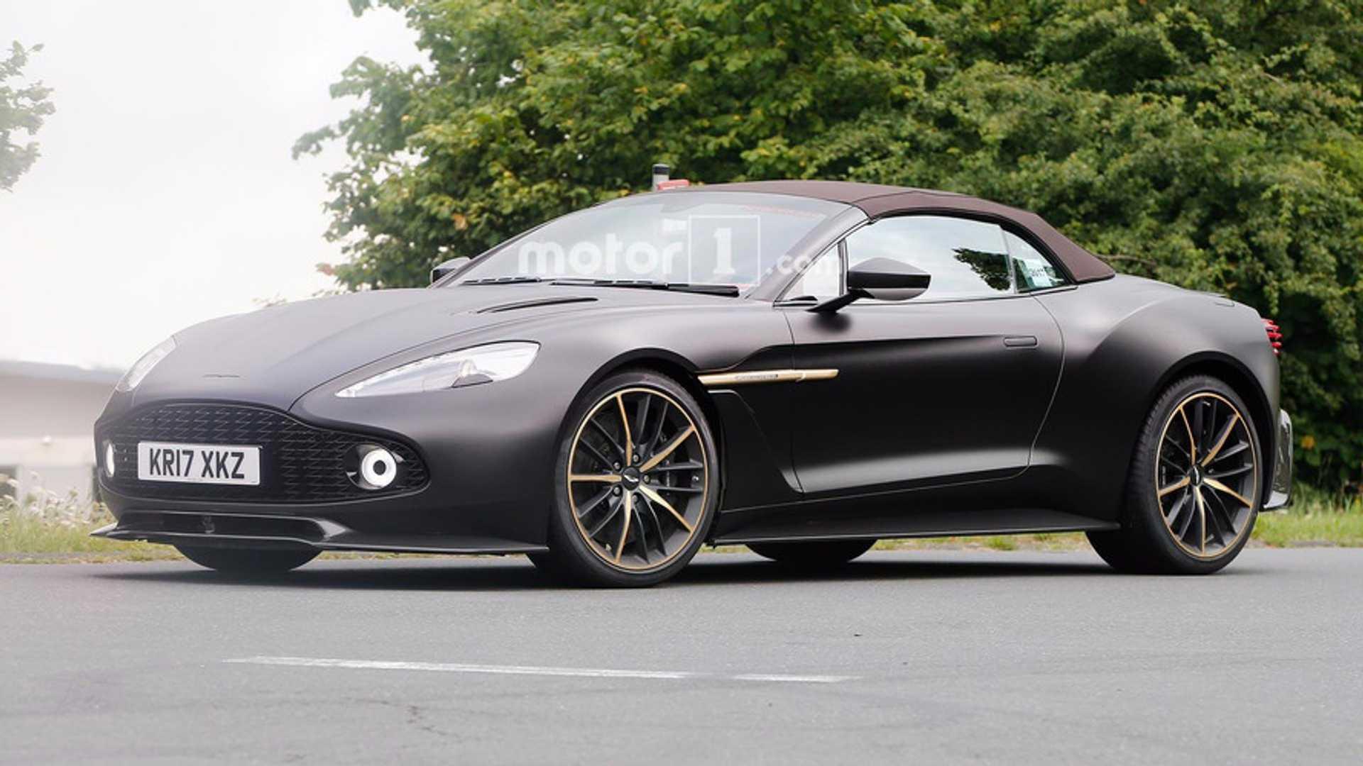Aston Martin Vanquish Zagato Volante Spied In Elegant Satin Black