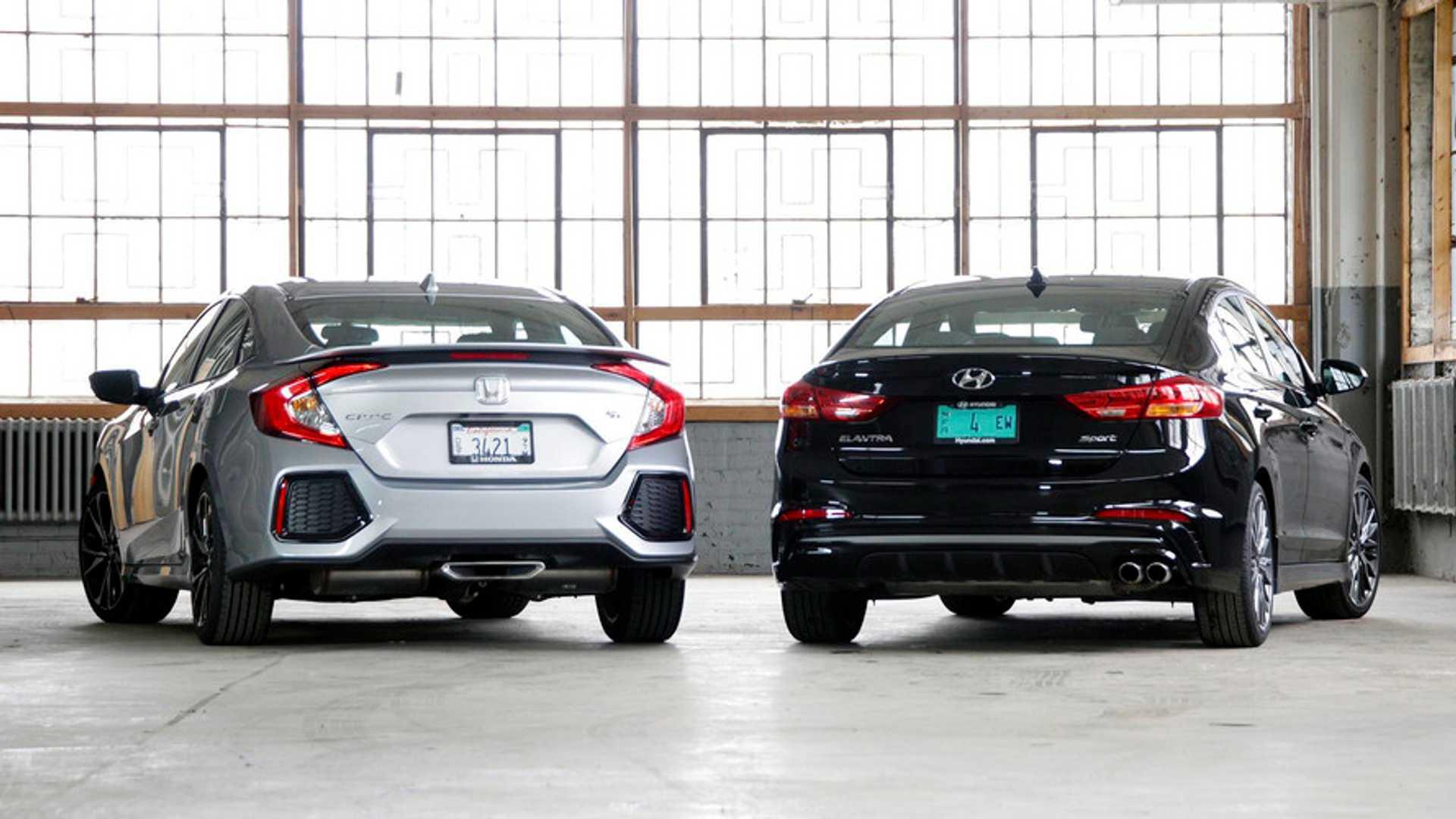 Honda Civic Si Vs Hyundai Elantra Sport Value Minded Thrills