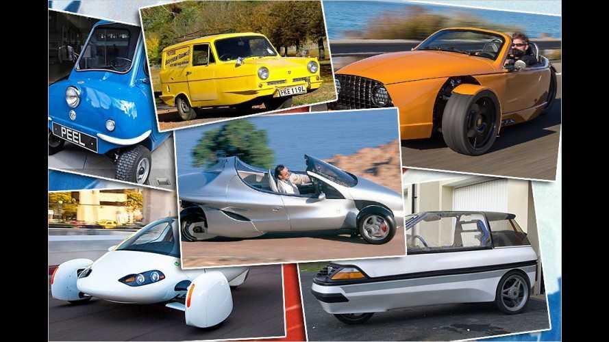 Sind das noch Autos? Fahrzeuge mit drei Rädern
