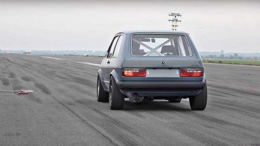 Avez-vous déjà vu ? Une Golf Mk1 dépassant les 300 km/h ?