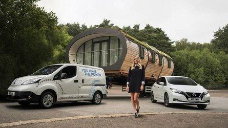 Nissan e-NV200: récord de remolque de un eléctrico
