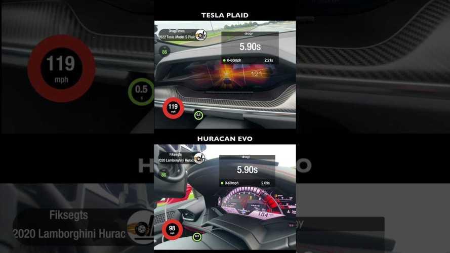 See how Tesla Model S Plaid compares to Ferrari, Lamborghini...
