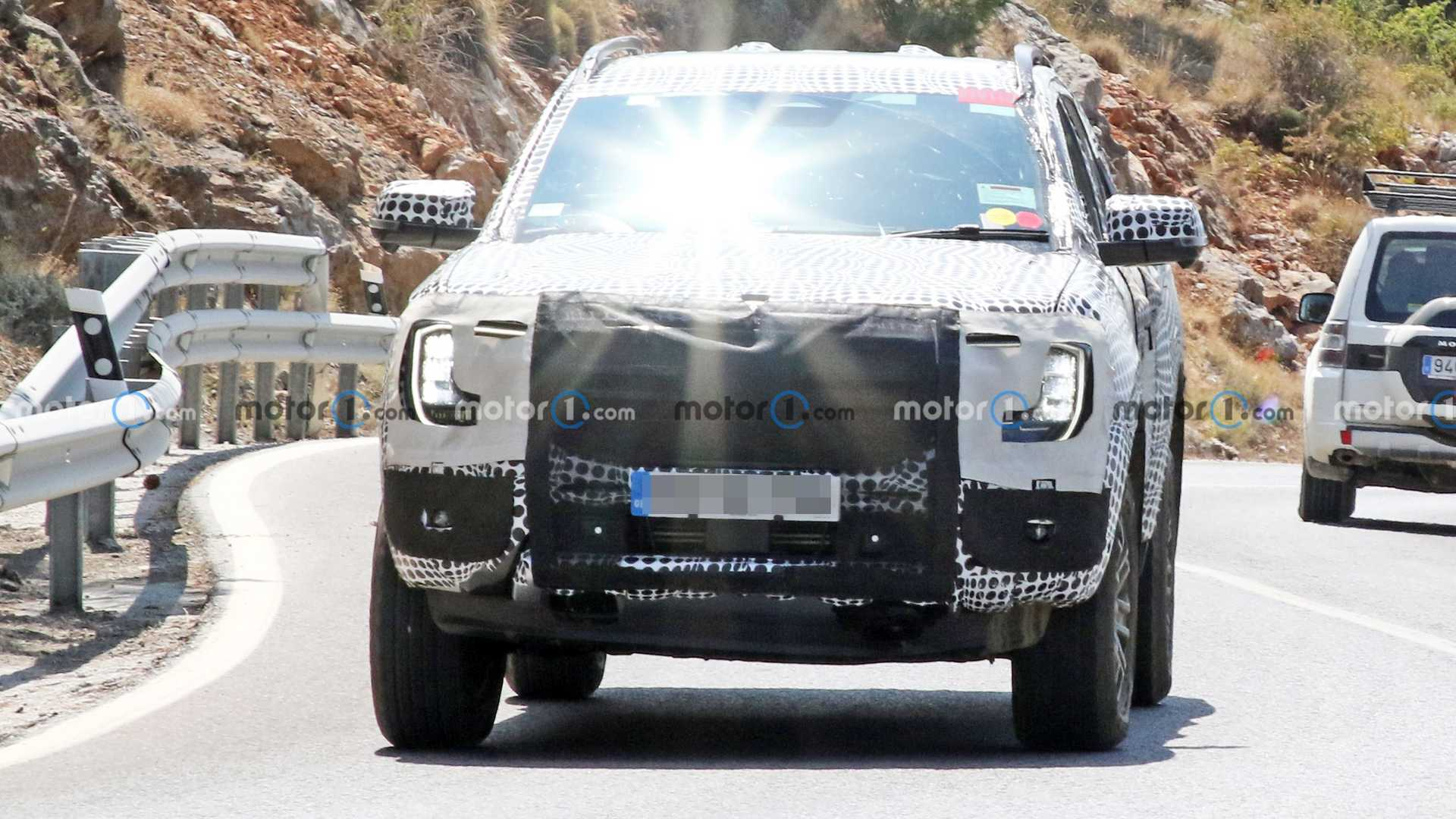 2023 Ford Ranger Front View Spy Photo
