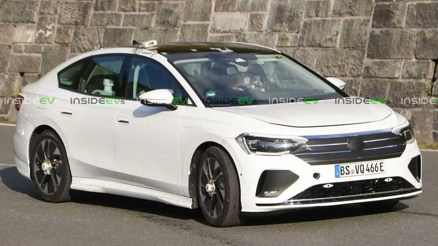 Flagra: Sedã elétrico Volkswagen ID