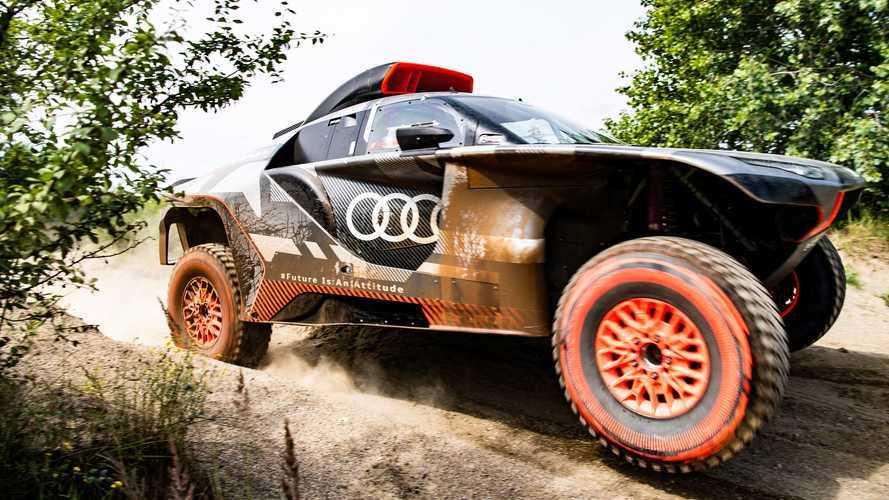 3 мотора и 4 км проводки: представлен гибрид Audi для «Дакара»