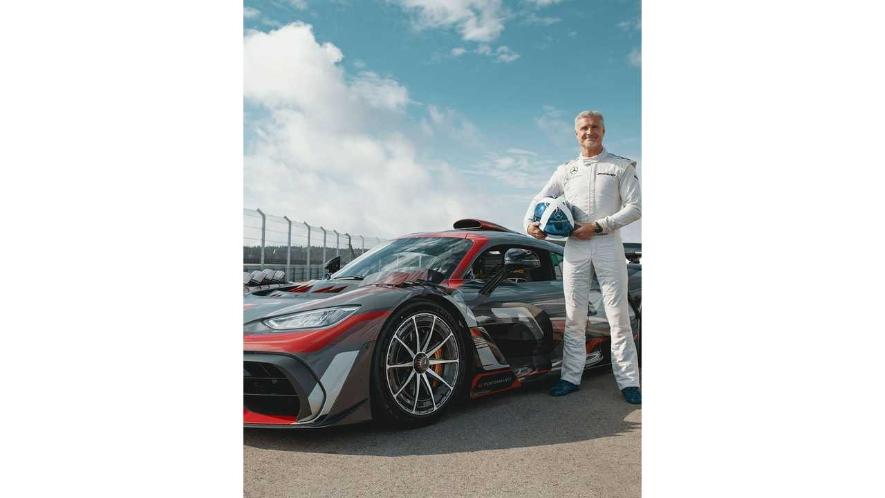 David Coulthard and the Mercedes-AMG One
