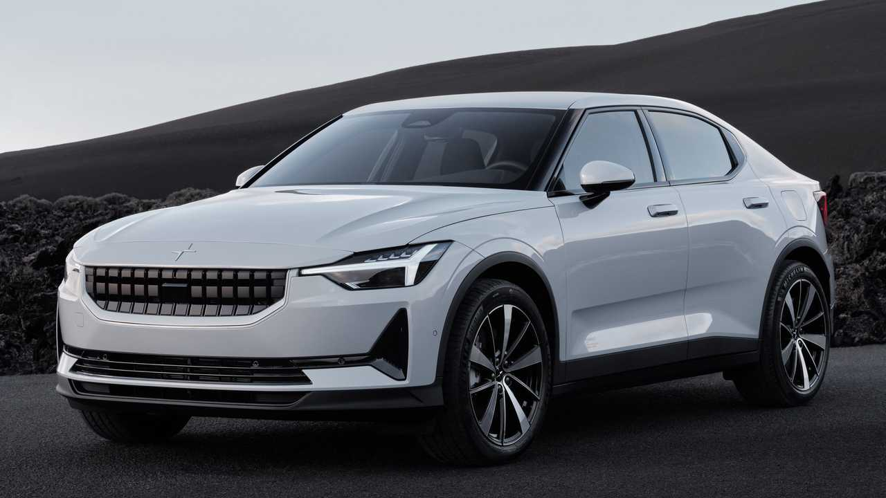A front view of the 2022 Polestar 2.