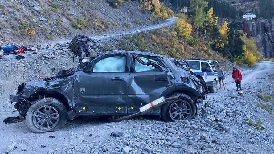 Ford Bronco Sport после падения с горы
