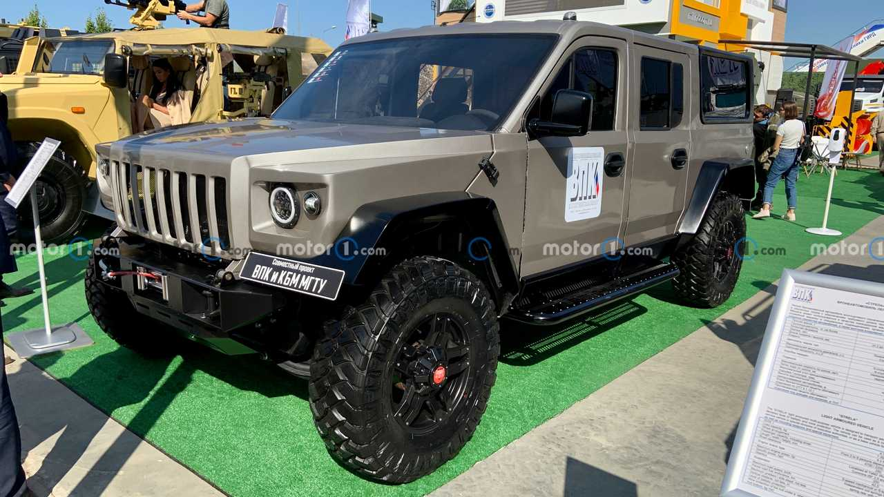 Strela is a Russian military SUV