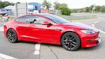 Tesla Model S Plaid (2021) am Nürburgring erwischt