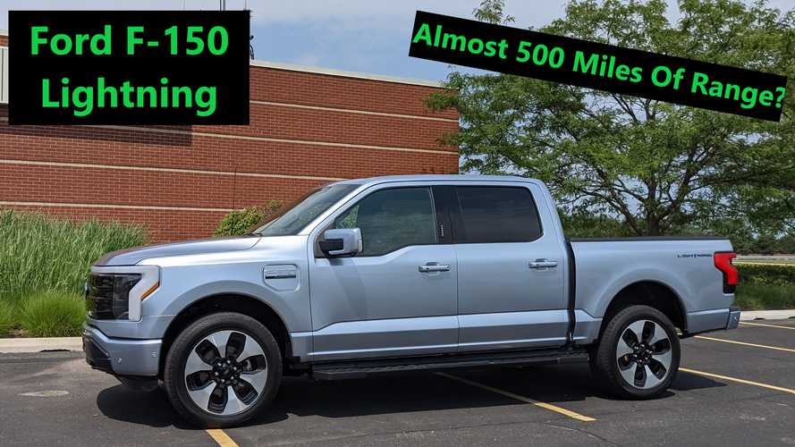 Pic Of Ford F-150 Lightning Display Shows Incredible Range Estimate
