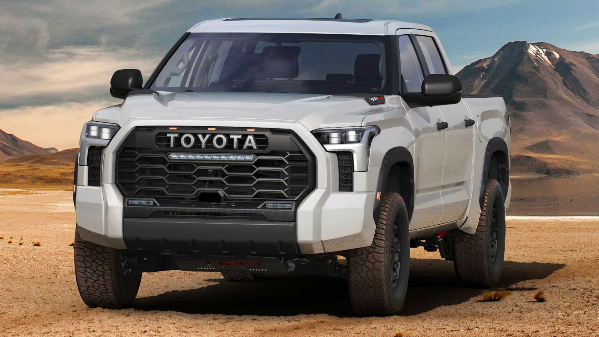 2022 Toyota Tundra TRD Pro outside front quarter