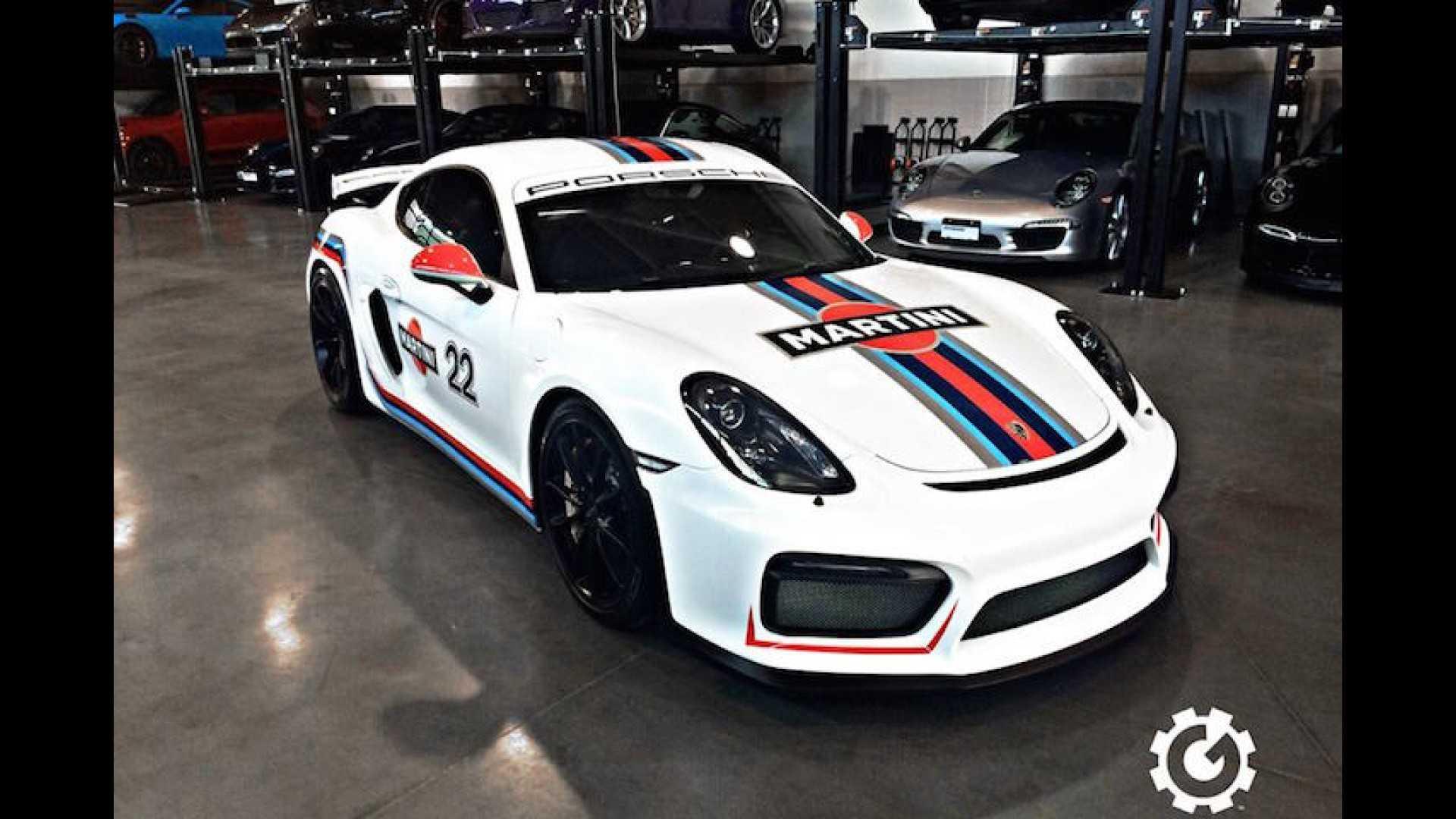 Porsche Cayman Gt4 Looks Like A Proper Race Car In Martini Livery
