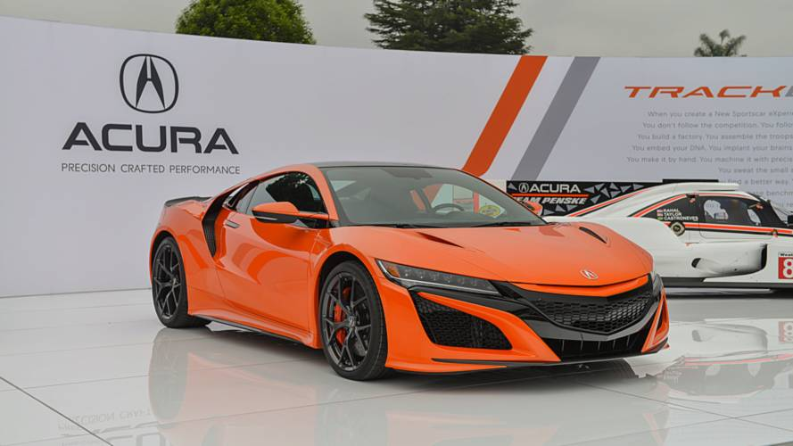 Acura NSX now available in orange squeezes out more performance