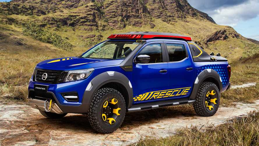 Nissan Frontier rescue concept features Leaf batteries