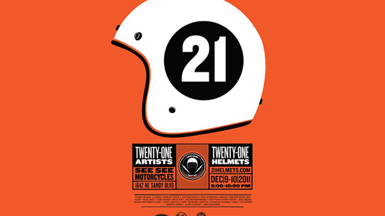21 Helmets: Art opening at See See's new shop
