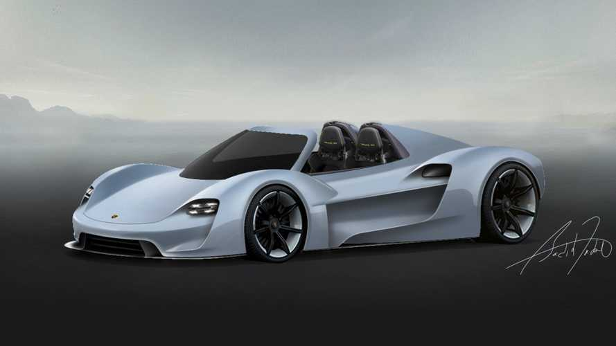 Fan rendered Porsche 918 successor is a Taycan on steroids