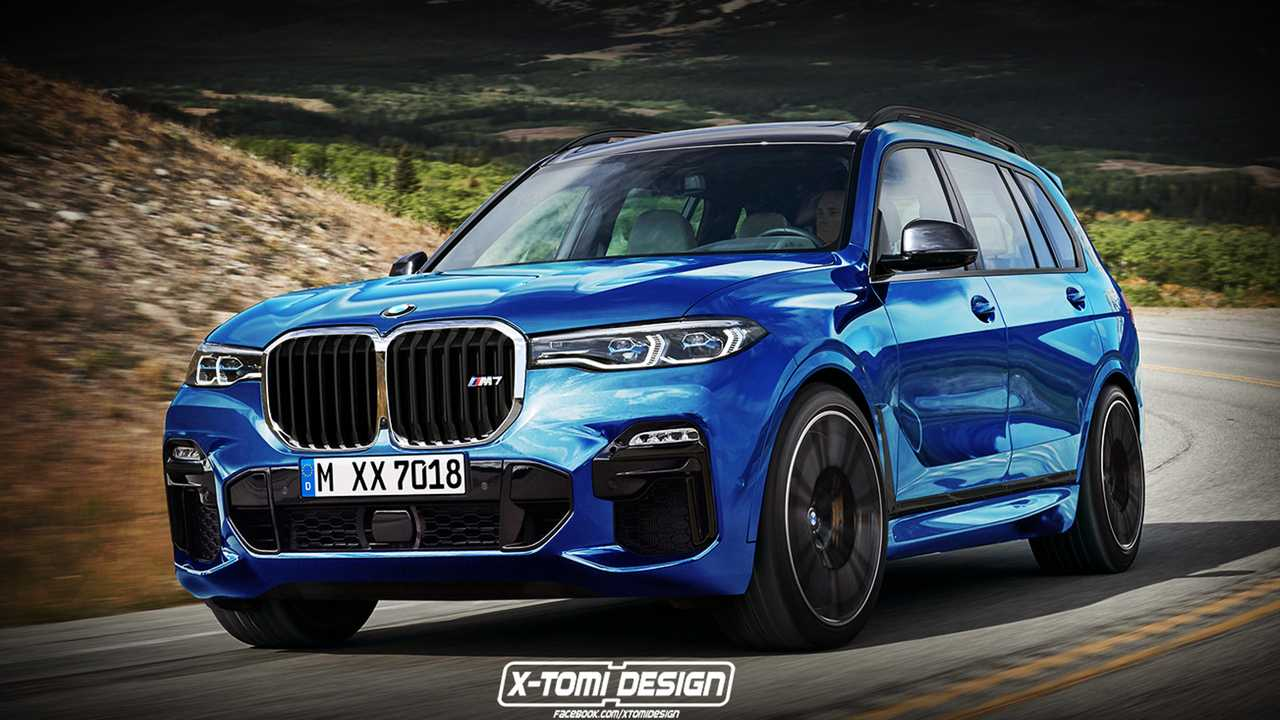 BMW X7 M rendering by X-Tomi Design