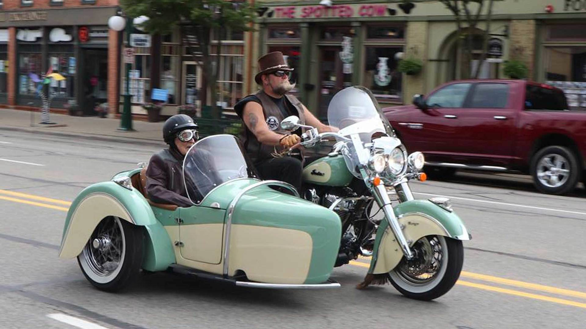 WWII Vet Gets to Ride on an Indian Once More
