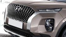 Hyundai Palisade, il rendering