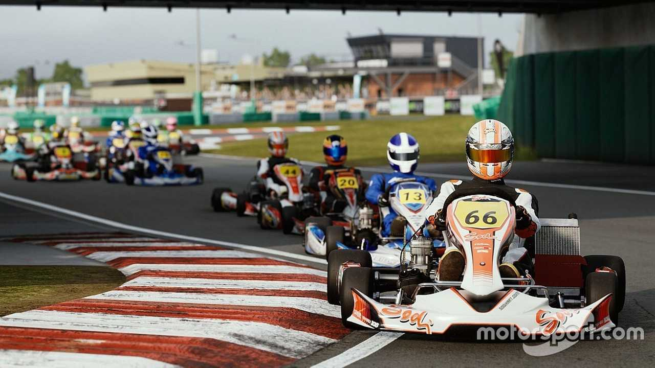 KartKraft screenshot of PFI International kart circuit UK