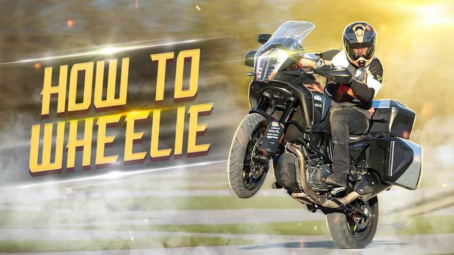 Pro Stunt Rider Shows Us How To Wheelie A Big Bike
