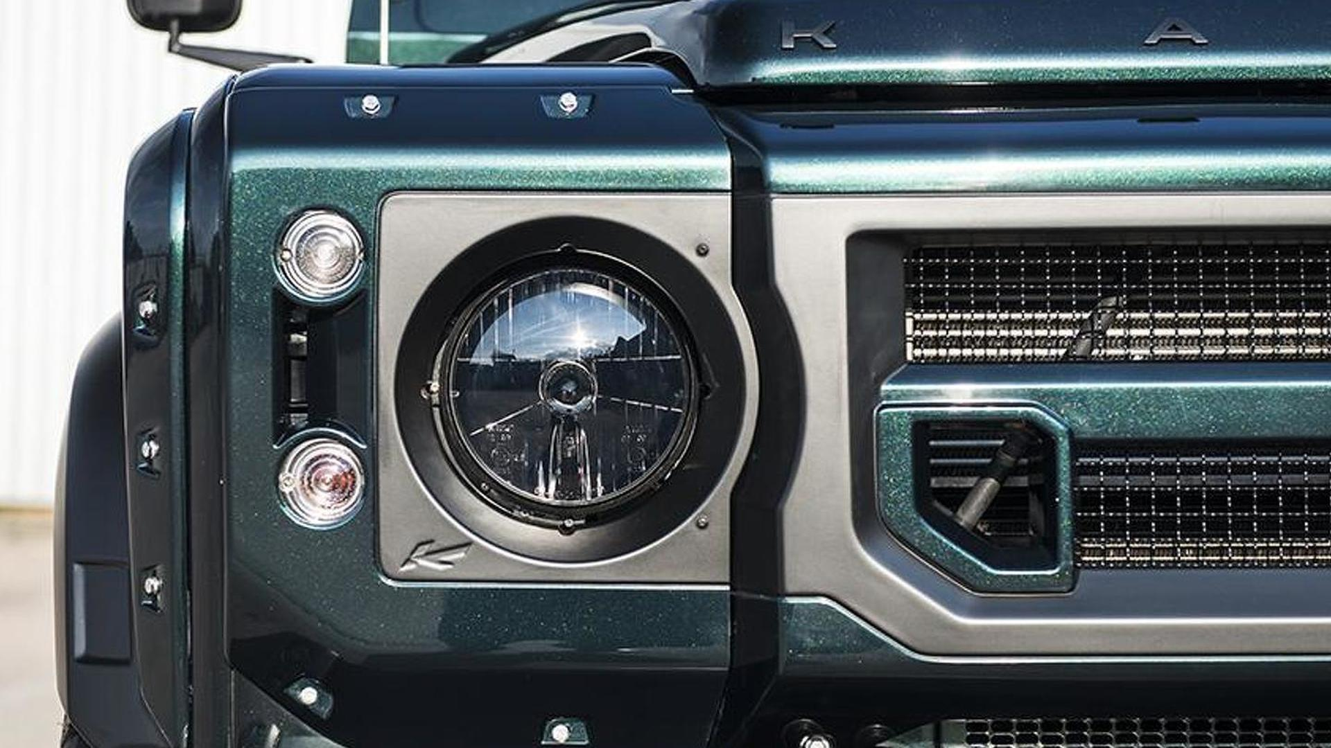 Kahn Design Shows Off Their Modified Land Rover Defender Double Cab Lights Pick Up
