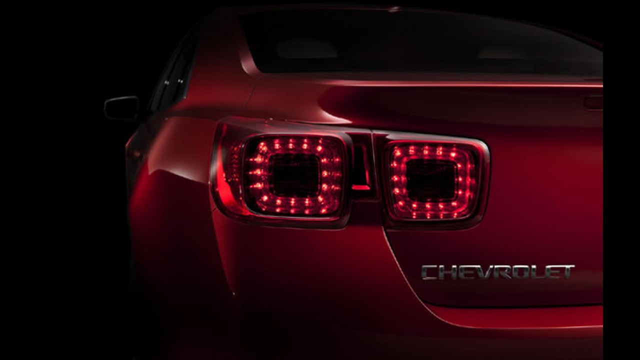 GM divulga teaser do Novo Chevrolet Malibu