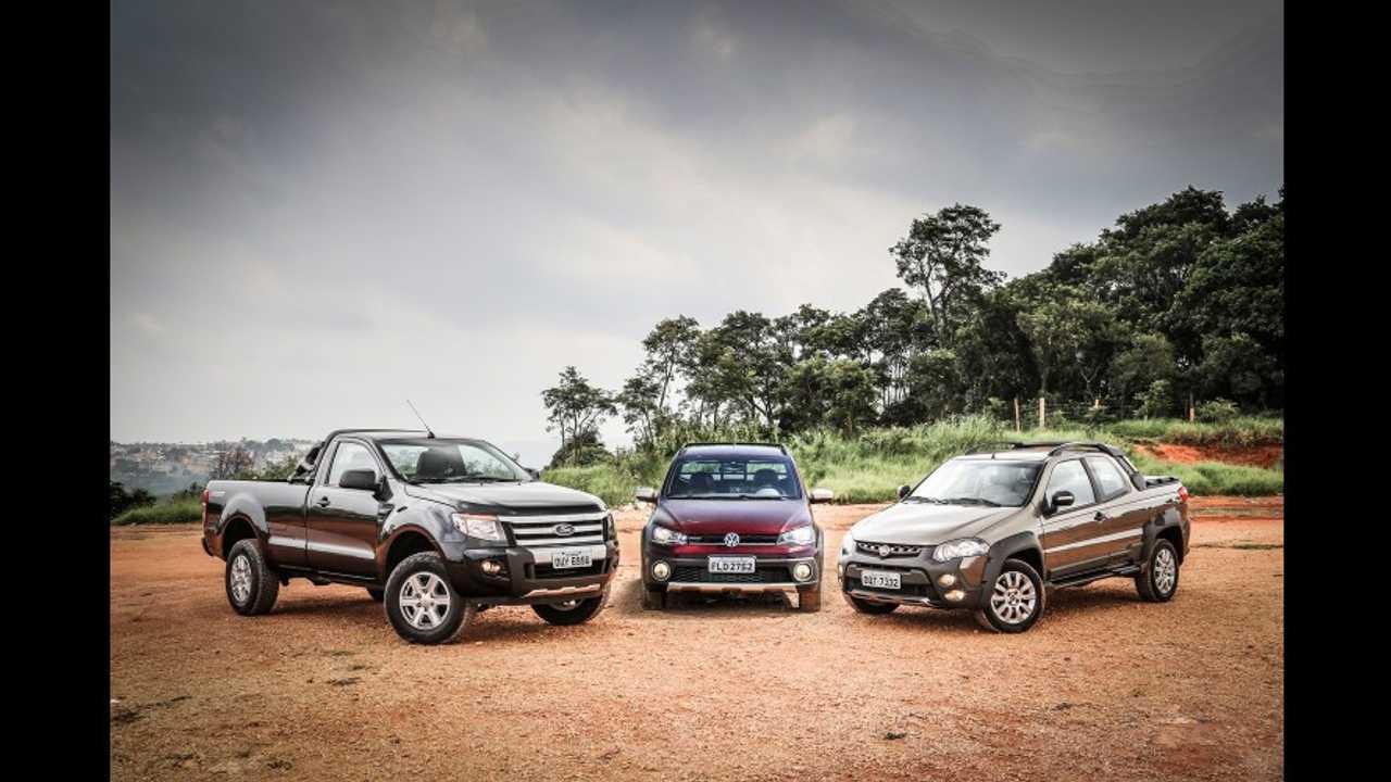 Teste CARPLACE: líder Strada é desafiada pelas novas Saveiro 16V e Ranger Sport