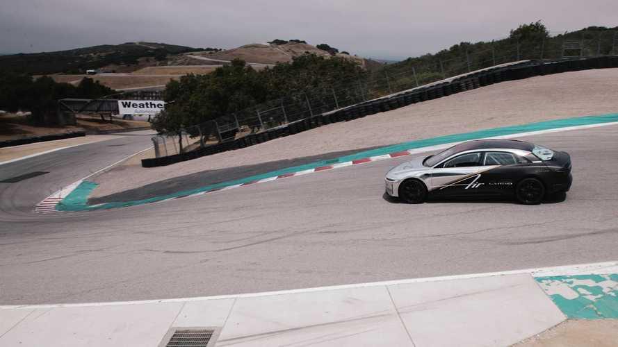 Lucid Air 'enterra' recorde do Tesla Model S em Laguna Seca