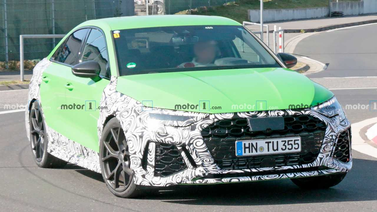 2021 Audi RS3 Sedan Nurburgring Spy Photo Front