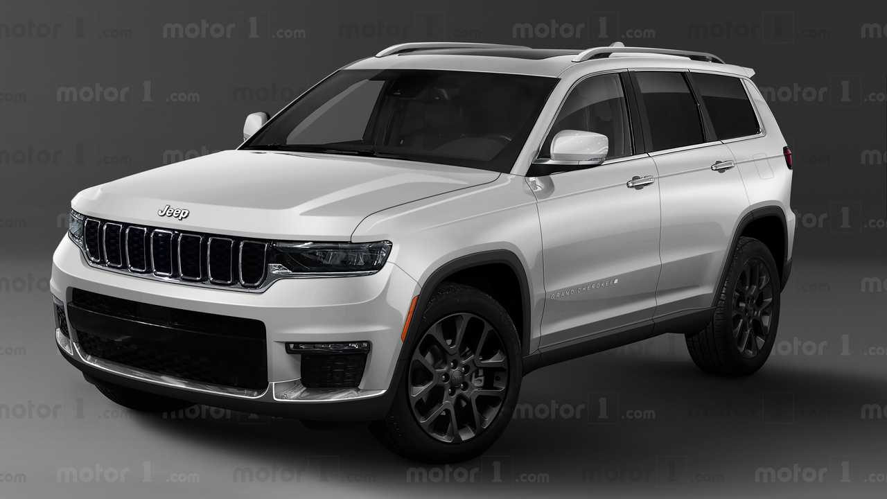 2022 Jeep Grand Cherokee White Rendering Front