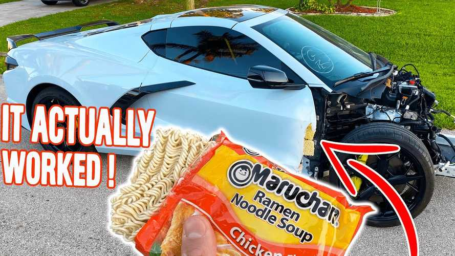 Here's Proof You Can Repair Anything With Ramen, Even A Corvette C8