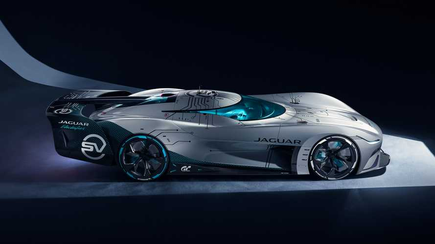 Jaguar Vision Gran Turismo SV is a 255-mph virtual racer with 1,877 bhp