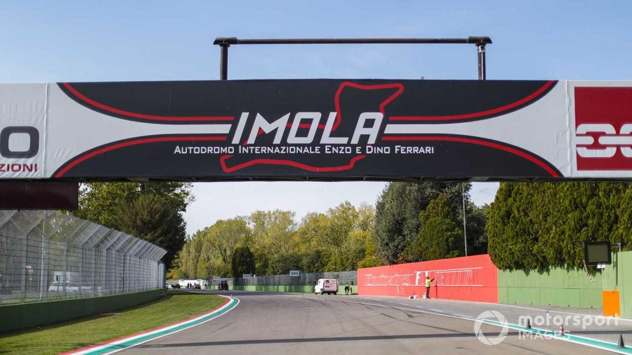 Imola circuit signage during Emilia-Romagna GP 2020
