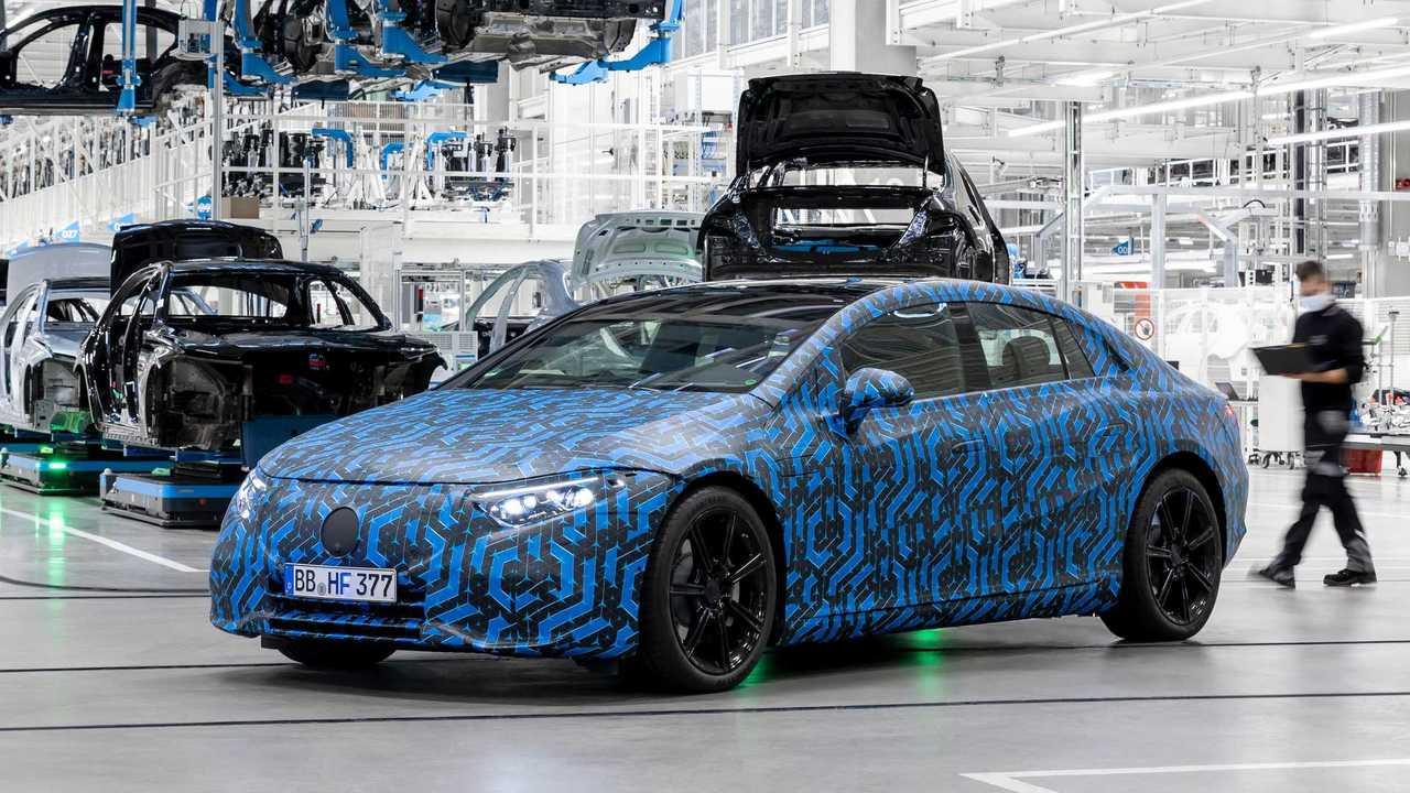 Mercedes EQS in der Factory 56 in Sindelfingen