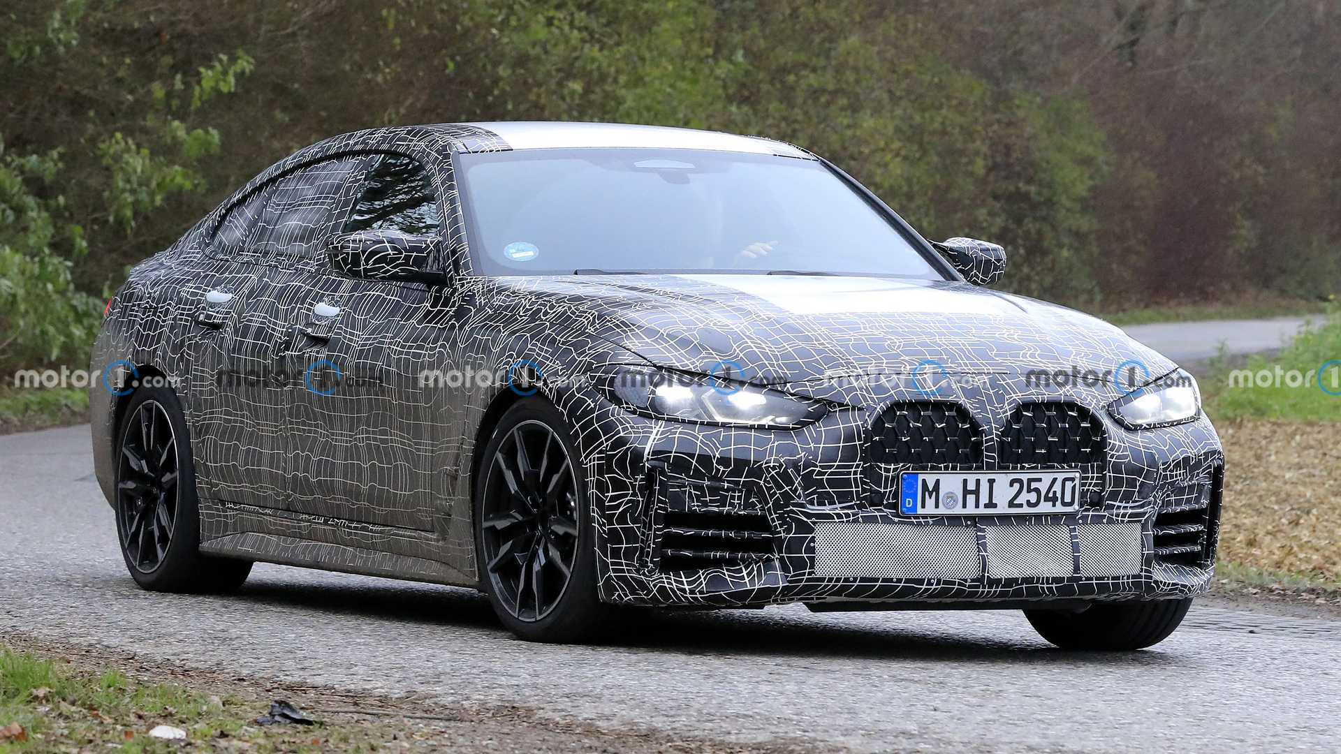 2022 Bmw 4 Series Gran Coupe Spied Looking Production Ready I4 Teased