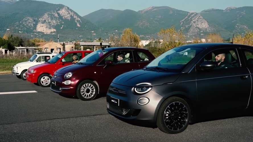 Watch Us Drag Race All Generations Of The Fiat 500