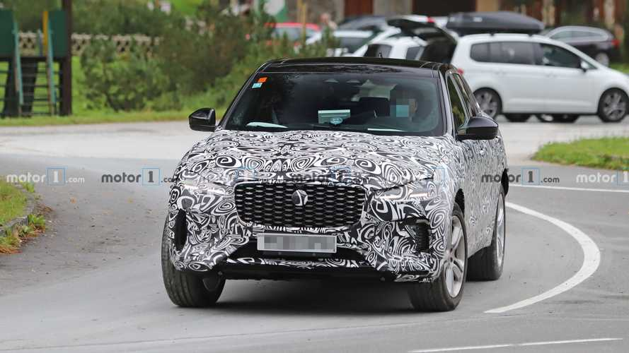 Jaguar F-Pace Facelift Spied Finally Shedding Some Camouflage