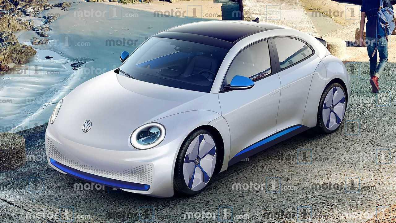 Volkswagen ID. Beetle, il rendering