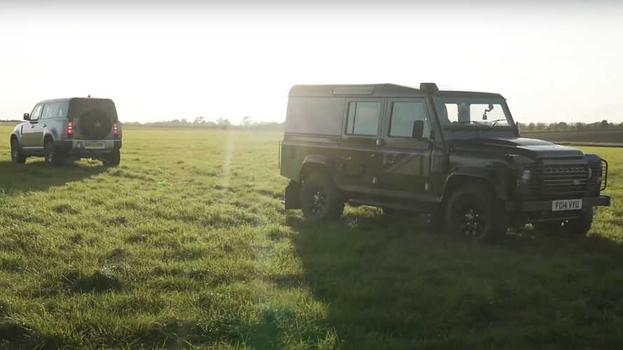 New Land Rover Defender Takes On Old Defender In Tug Of War