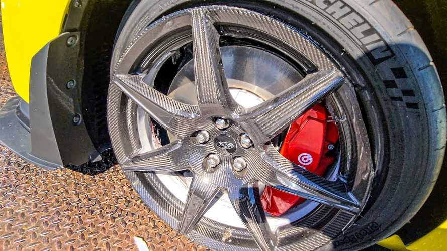 This Shelby GT500's Carbon Fiber Wheels Have Seen Better Days