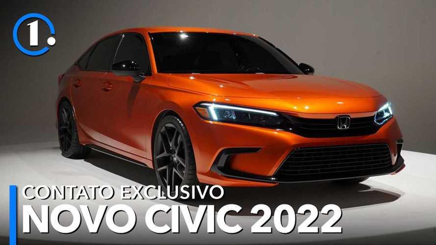 Novo Honda Civic 2022 ganha linhas de Accord para agradar público conservador